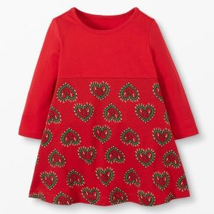 NWT Hanna Andersson Red Heart Playdress